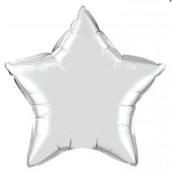 ballon mylar métal étoile argent 23 cm