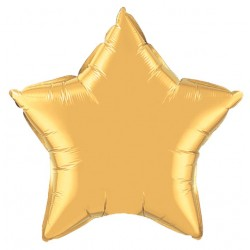 ballon mylar étoile or 23 cm35982 QUALATEX Etoiles 23 Cm (Gonflage Air)