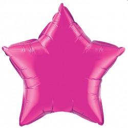 étoile fuschia mylar 23cm 99344 QUALATEX Etoiles 23 Cm (Gonflage Air)