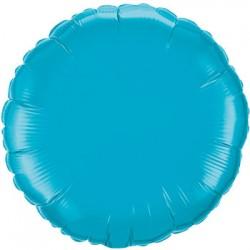mylar rond turquoise10 cm de diamètre