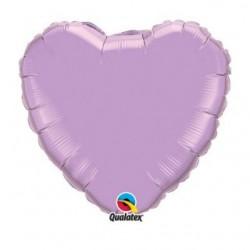 micro coeur lilas 10 cm non gonflé
