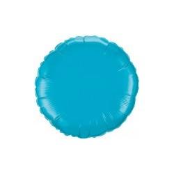 mylar rond turquoise 23 cm de diamètre
