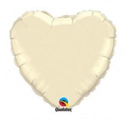 ballon mylar coeur ivoire 23 cm vendu non gonflé
