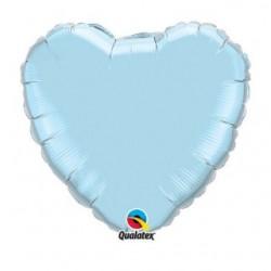 micro coeur bleu pastel 10 cm non gonflé