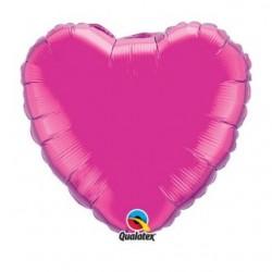 ballon mylar coeur magenta 23 cm vendu non gonflé 99342 QUALATEX Cœurs Mylar 23 cm (Air)