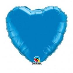 ballon mylar coeur bleu 23 cm non gonflé 24129 QUALATEX Cœurs Mylar 23 cm (Air)