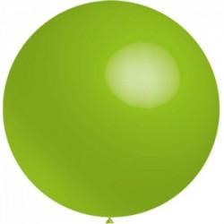 5 ballons 40 cm diamètre VERT ANISrr16anis BWS 40 cm rond OPAQUE (pour décoration air ou hélium )