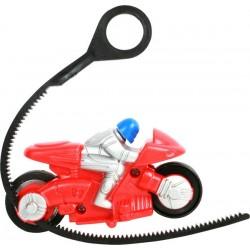 1 moto sport 10 cm avec lanceur
