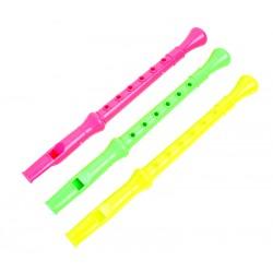 3 flutes plastique 24 cm