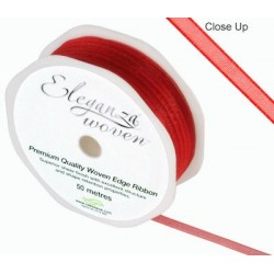 Ruban organza ROUGE 3mm*50 m