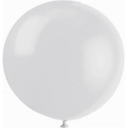 METALLISE BLANC rond 40 cm poche de 501747 bm 40 p5 BWS 40 cm rond métal (pour décoration air ou hélium )