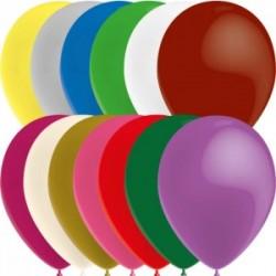 ballons métal 28 cm multicouleur POCHE DE 100