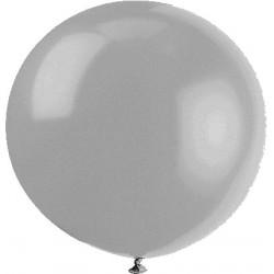 METALLISE ARGENT rond 40 cm POCHE DE 5 BWS 40 cm rond métal (pour décoration air ou hélium )