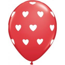 Ballons ROUGE coeurs blanc et ballons BLANCS coeurs ROUGE5734_2060264203 Amour Ballons Baudruches Imprimes