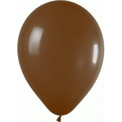 ballons standard CHOCOLAT opaque 12 cm EN POCHE DE 50 BWS 12.5 cm opaque (décoration air)