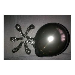 NOIR ballons standard opaque 12cm POCHE DE 50BWS noir 12p50 BWS 12.5 cm opaque (décoration air)
