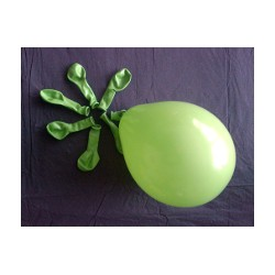 ballons VERT PRINTEMPS opaque 12 cm POCHE DE 100BWS vert 12p100 BWS 12.5 cm opaque (décoration air)