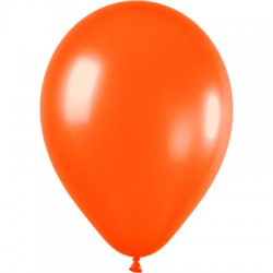 ORANGE ballons PERLE METAL 25 cm diamètre POCHE DE 100