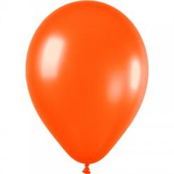 ORANGE ballons PERLE METAL 25 cm diamètre POCHE DE 100 BWS 25 cm Métallisé (pour décoration air ou hélium )