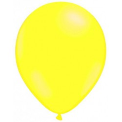 JAUNE ballons standard opaque 7.5 cm diamètre POCHE DE 25