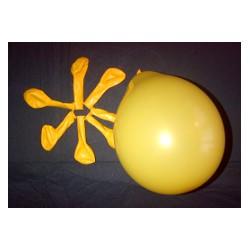 JAUNE D'OR ballons standard opaque 12 cm POCHE DE 50BWS jauneor 12p50 BWS 12.5 cm opaque (décoration air)