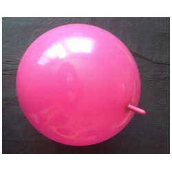 DOUBLE ATTACHE 35 cm opaque FUSCHIA POCHE DE 25 BWS BALLONS OPAQUES