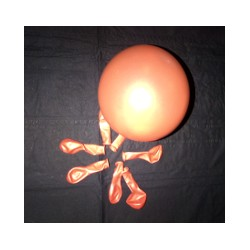 ORANGE ballons métal opaque 12 cm diamètre POCHE DE 100rr5morange BWS 12.5 CM MÉTAL (décoration air)