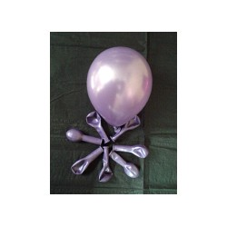 Lilas ballons métal opaque 12 cm diamètre POCHE DE 100