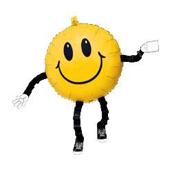 marcheur smile 76 cm ballon métal