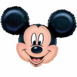 Tête Mickey ballon mylar 71*58 cm non gonflé