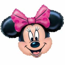 Tête de Minnie ballon mylar 71*58 cm non gonflé