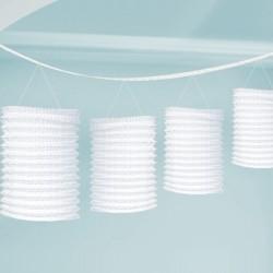 Guirlande lanterne blanche 3m65