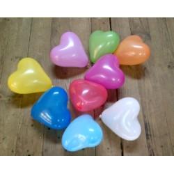 ballons baudruche coeur multicouleur 12 cm de diamètreBWSCOEURMULTI12P100 BWS Coeurs Gamme Eco