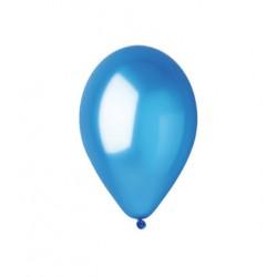 BLEU FONCE ballons PERLE METAL 25 cm diamètre POCHE DE 100 BWS 25 cm Métallisé (pour décoration air ou hélium )