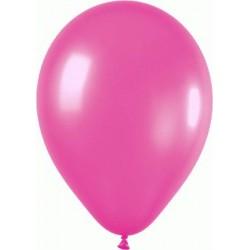 FUSCHIA ballons PERLE METAL 25 cm diamètre POCHE DE 100 BWS 25 cm Métallisé (pour décoration air ou hélium )