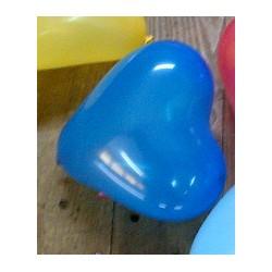 ballons baudruche coeur BLEU 12 cm de diamètre BWS -- 12 CM à 100 CM Ø COEURS BALLONS PLUS COEURS