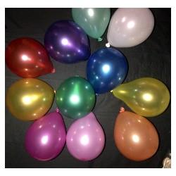 ballons métal multicouleur opaque 12.5 cm diamètre POCHE DE 50 BALLONS