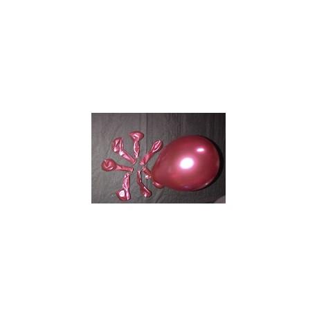 BORDEAUX METAL ballons 12cm diamètre POCHE DE 50