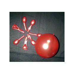 ROUGE ballons métal opaque 12 cm diamètre POCHE DE 100