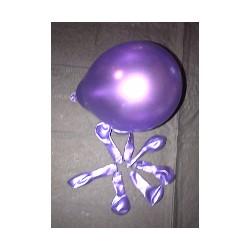 VIOLET ballons métal opaque 12 cm diamètrePOCHE DE 100rr5mviolet BWS 12.5 CM MÉTAL (décoration air)