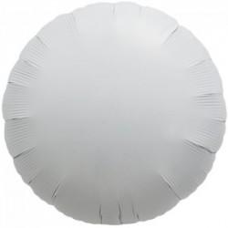 ballons mylar rond 45 cm blanc