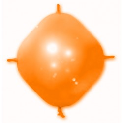 BALLONS 4 ATTACHES CONSTRUCTOR ORANGE POCHE DE 25 BWS ORANGE