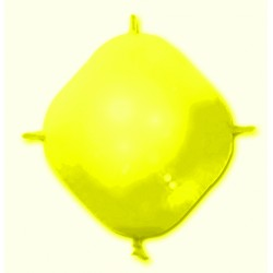 25 BALLONS 4 ATTACHES CONSTRUCTOR JAUNE