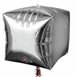 3 Cubes argent 38 cm2833599 AMSCAN Cubes Ballons Metal