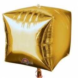 3 CUBES OR 38 CM2833699 AMSCAN Cubes Ballons Metal