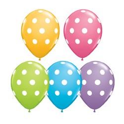 ballon 28 cm à gros points par poche de 5 Ballons 35 cm diamètre