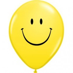 ballon 28 cm jaune smile opaque
