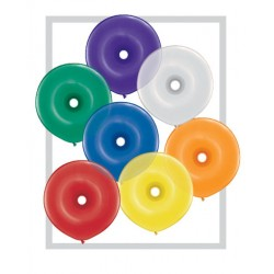 Ballons qualatex donut 16 inch 40 cm MULTICOULEUR JEWEL poche de 50 QUALATEX poche de 5 ballons