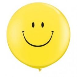 ballon 80 cm jaune smile29211 QUALATEX Fêtes Et Smiles Ballons De Baudruche Imprimes