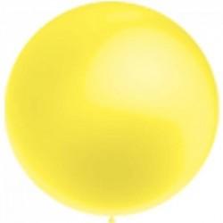 Métaliisé jaune rond 40 cm poche de 5